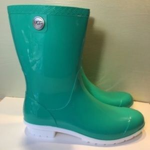 UGG Shoes - NEW Ugg Sienna Neon Green Rubber Boots